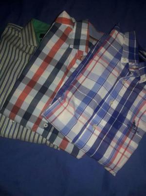 lote de 3 camias talle L por $600