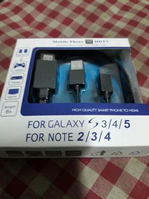 Cable Adaptador Mhl A Hdmi Para Samsung S3,4,5 Y Note 2,3,4