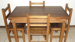 Juego comedor mesa 120x70 con 4 sillas