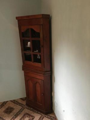 Mueble Esquinero de Algarrobo, dos cuerpos y puerta de