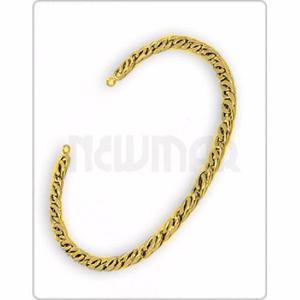 Pulsera Espiga Oro Amarillo 18 K 21 Cm 1.9 Grs Hombre Mujer