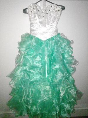 Vestidos de 15 color verde marino