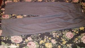 pantalon de escuela gris de algodon talle 12 y 14