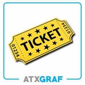 100 Entradas Ticket Para Eventos - Numerado Y Troquelado