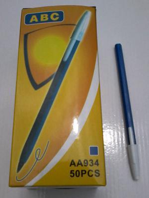 Biromes ABC tipo Bic Azul o Negra por 50 unidades