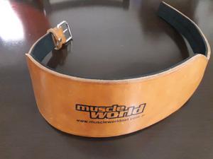 Cinturon de cuero Muscle Word