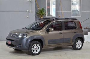 Fiat Uno way 1.4 8v con gnc 2012 5ptas color marron