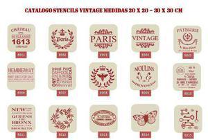 Stencil Vintage Decorativos 20x20 Cm Combo X 10 Unidades