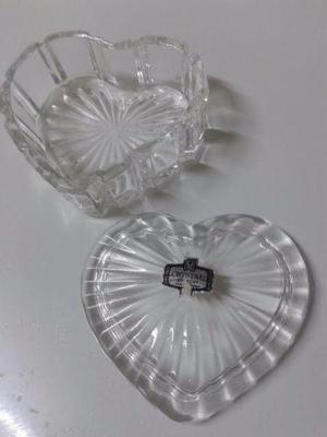 alhajero de cristal 24% pbo forma de corazon 9x8cm