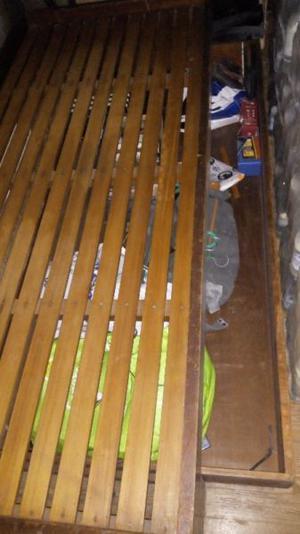 Cama 1 plaza, carro cajón