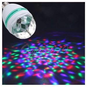 LAMPARA GIRATORIA LUCES LED RGB FIESTA