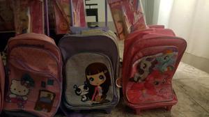 Liquido mochila valija y mochilas varias con rueditas