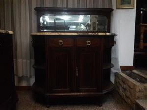 Antiguo aparador vajillero con marmol de estilo posot class - Mueble aparador antiguo ...