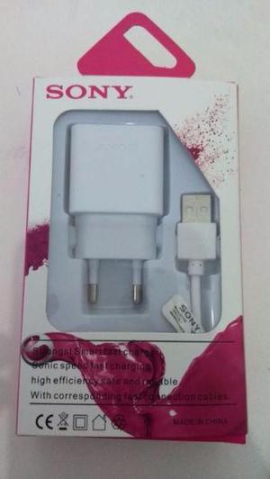 Cargador Sony Carga Rapida Xperia Cable Micro Usb
