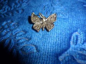 Dije Mariposa De Plata Antiguo.sellado.microcentro-avellaned