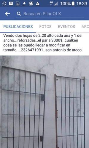 Porton doble.hoja para puertas $ san amtno de.areco