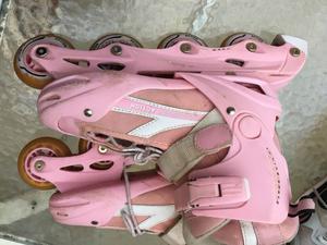 Rollers Rosados Extensibles. En Muy Buen Estado