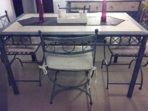 vendo precioso juego de mesa con 4 sillones $ 9999