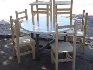 Meda de 120 mas seis sillas nuevas muy bueno