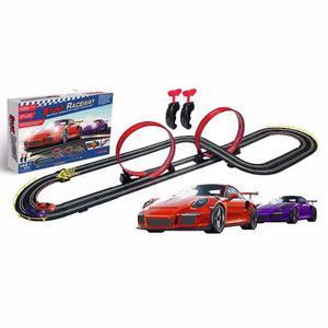 Pista Scalextric 2.10m Porsche 1:43 Racing 220v Nuev Bigshop