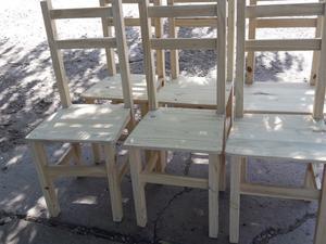 Seis sillas. Nuevas Reforzadas