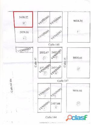 Venta de lote de 3400 m2, Zona Acceso Sur. Mercedes (B)