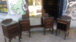 Antiguo juego de dormitorio estilo chippendale