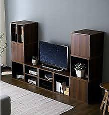 Cubos, Biblioteca, Mueble TV, Estantes, Repisa