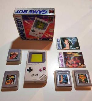 Game Boy Original Con 4 Juegos