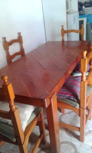 Mesa para quincho de 300x120 con 14 sillas posot class for Sillas para quincho