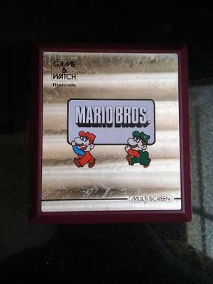 Nintendo Game Watch Super Mario Bros Funciona Sin Tapa Pilas