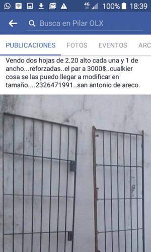 Porton doble.hoja para puertas 3000$ san amtno de.areco