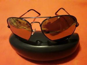 lentes de sol modelo aviador con espejo polarizado premium