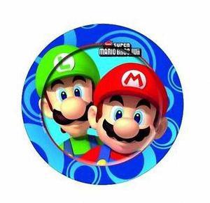 8 Super Mario Bros Wii Party Grandes 9 Placas De Papel Des