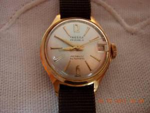 Antiguo Reloj Tressa Automatico Con Detalles En Oro Plaque