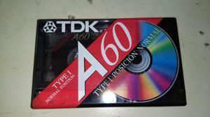 Cassette Audio - Tdk A60 - Type I - Nuevo - Celofan Original