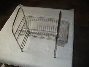 Escurridor de platos y utensillos en acero - De apoyo o para