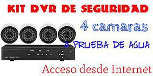 KIT CAMARAS DE SEGURIDAD. 4 CAMARAS HD. DVR HDMI. VISION