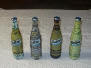 Lote Botellas Quilmes edición Artesanías Argentinas.