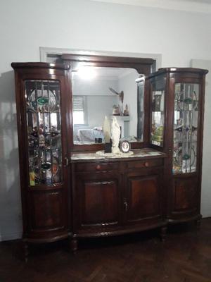 Mueble Vajillero de Madera y Cristal antiguo muy buen estado
