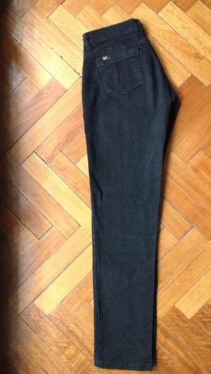 Pantalon Jean Negro Elastizado Recto