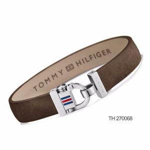 Pulsera Tommy Hilfiger 2700767 2700768 Bijoux Cuero Acero