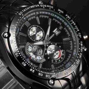 Reloj Acero Inoxidable Fashion Fecha Diales Decorativos