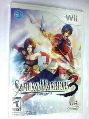 Samurai Warriors 3 Wii Nuevo Caja Sellada Fisico