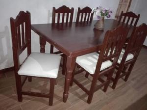 juego de comedor nuevo a estrenar sillas roma