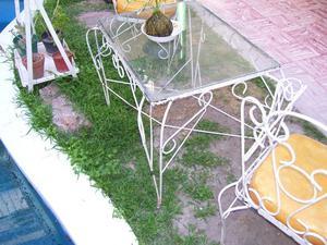 juego de jardin antiguo de hierro pesos