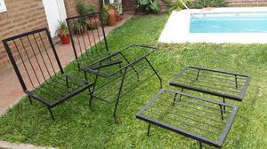 juego de sillones de hierro