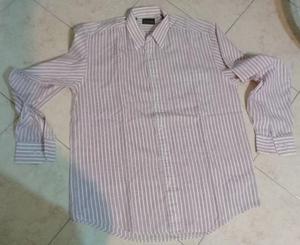 Camisa rayada bordo louis pailippe 1 bolsillo talle 40