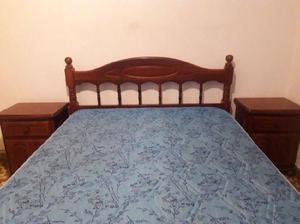 Juego de dormitorio 2 plazas de algarrobo
