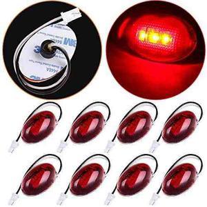Scitoo 8pcs Side Fender Marker Liquidación Luz Roja Trasera